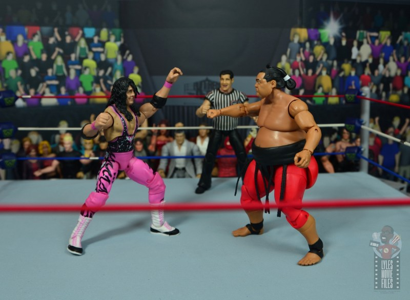 wwe ultimate edition bret hitman hart figure review - vs yokozuna
