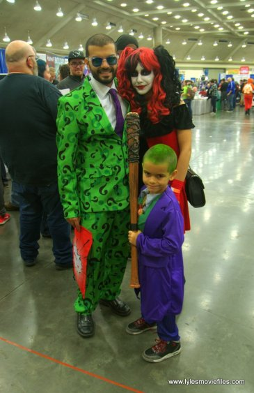 Baltimore Comic Con 2019 cosplay - the riddler, harley quinn and joker