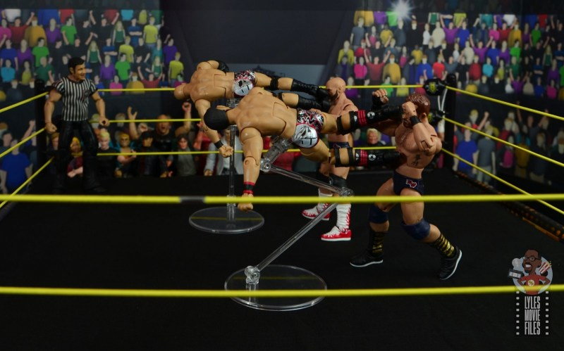 WWE Hall of Champions DIY figure review - double dropkick