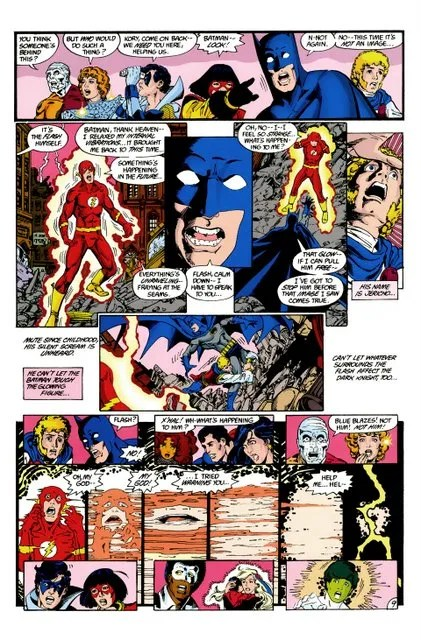 crisis on infinite earths #3 - batman watches flash die again