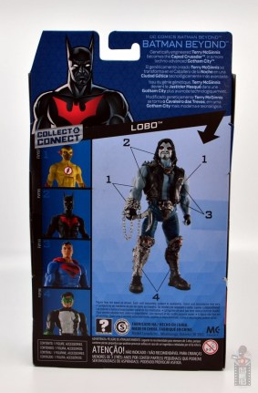 dc multiverse batman beyond figure review - package rear