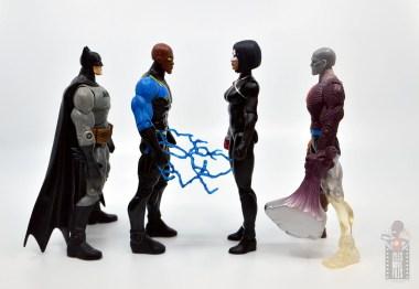 dc multiverse katana figure review - facing batman, black lightning and metamorpho