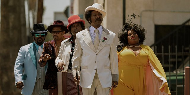 dolemite is my name review - Eddie Murphy, Mike Epps, Craig Robinson, Tituss Burgess, and Da'Vine Joy Randolph