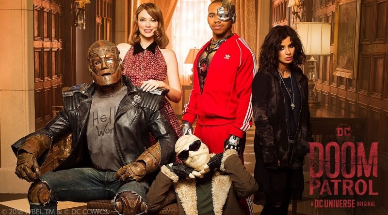 doom patrol - cliff, rita, larry, vic and jane