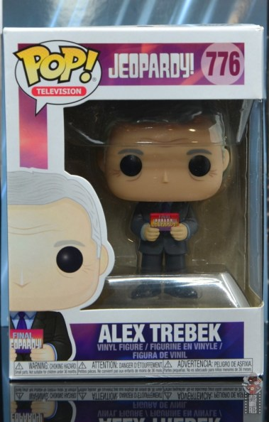 funko pop alex trebek figure review - package front