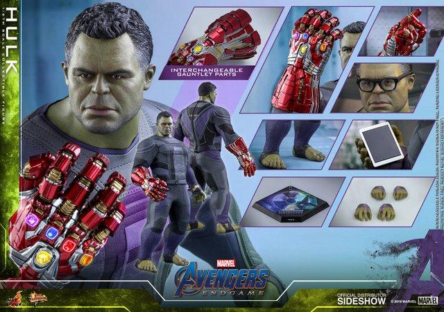 hot toys avengers endgame hulk figure - collage