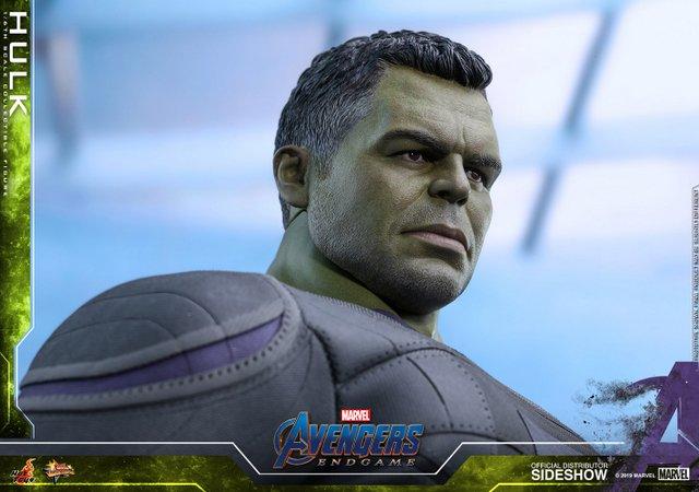 hot toys avengers endgame hulk figure -head sculpt detail