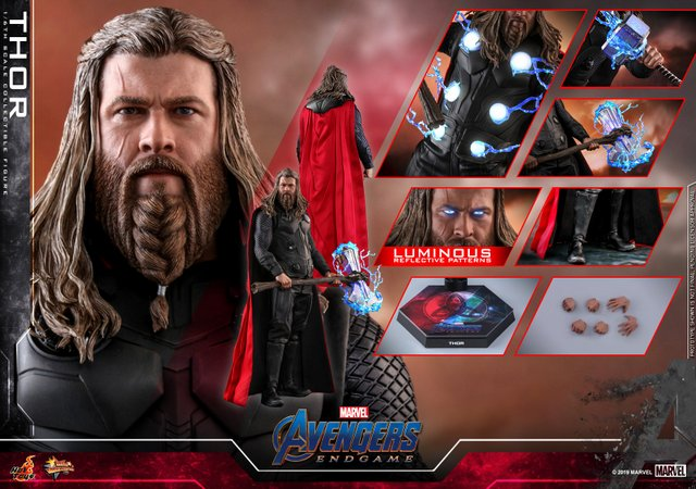 hot toys avengers endgame thor figure - collage