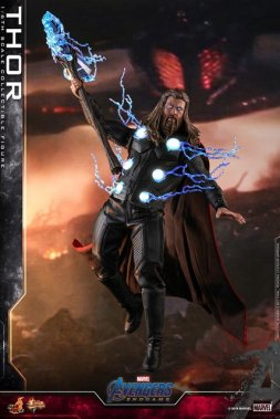 hot toys avengers endgame thor figure - raising stormbreaker