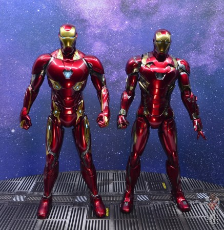 hot toys avengers infinity war iron man figure review - scale with civil war iron man