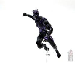 marvel legends black panther vibranium effect figure review - leaping