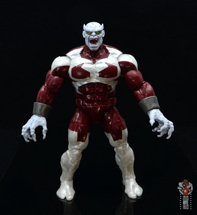 marvel legends build a figure caliban figure review - arms wide