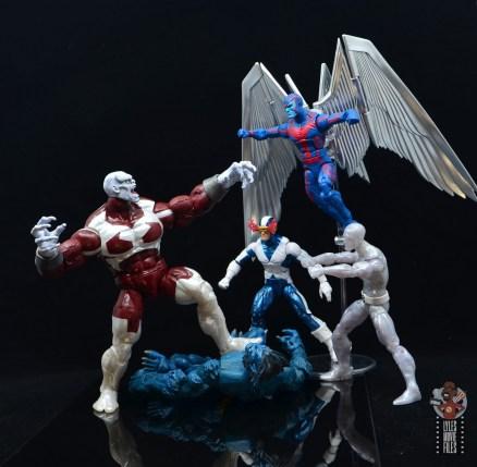 marvel legends build a figure caliban figure review - vs x-factor