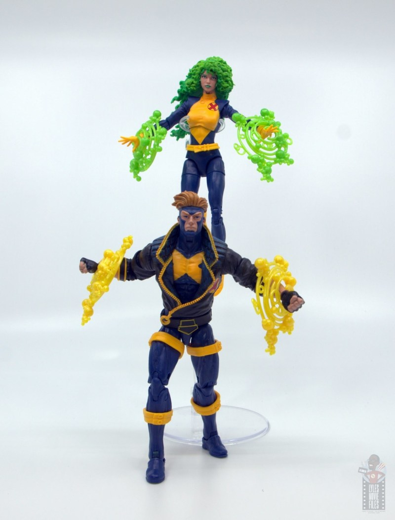 marvel legends havok and polaris figure review - energy effects