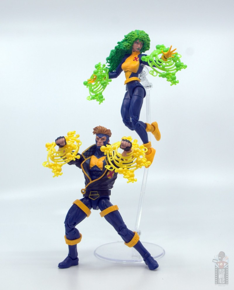 marvel legends havok and polaris figure review - in action
