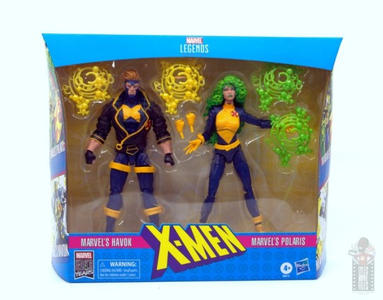 marvel legends havok and polaris figure review -package front
