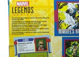 marvel legends havok and polaris figure review - package havok bio