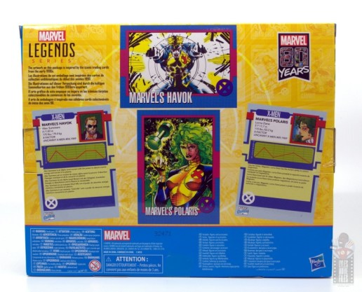marvel legends havok and polaris figure review -package rear