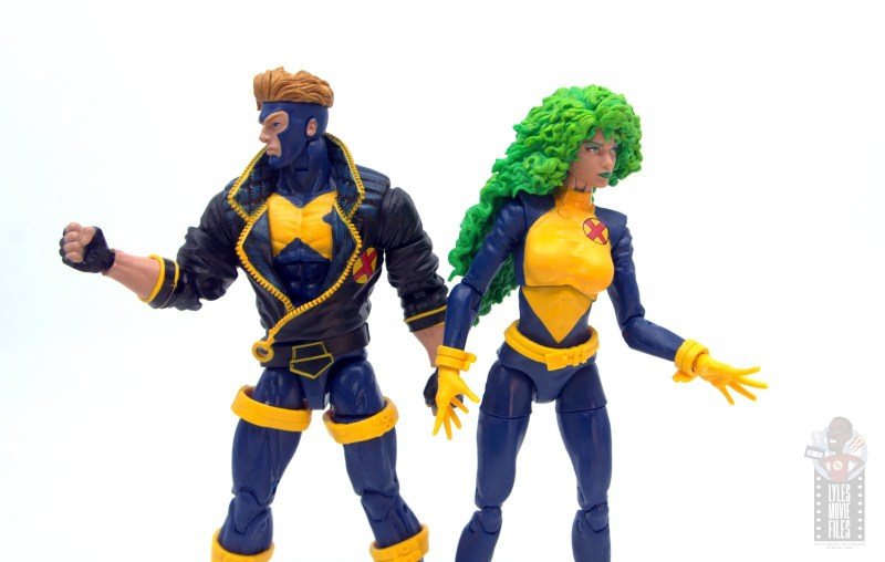 marvel legends havok and polaris figure review - side to side