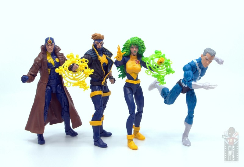 marvel legends havok and polaris figure review -x-factor ver.2 with quicksilver and multiple man