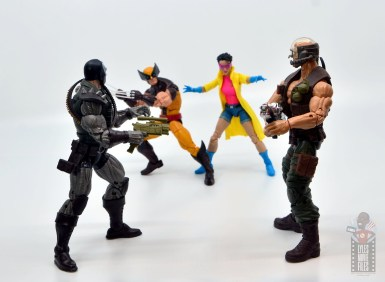 marvel legends skullbuster figure review - with reese vs wolverine and jubilee