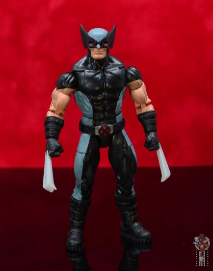 marvel legends x-force wolverine figure review - front