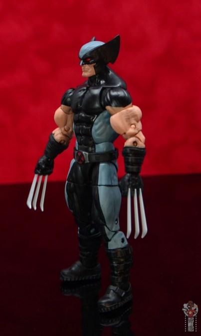 marvel legends x-force wolverine figure review - left side