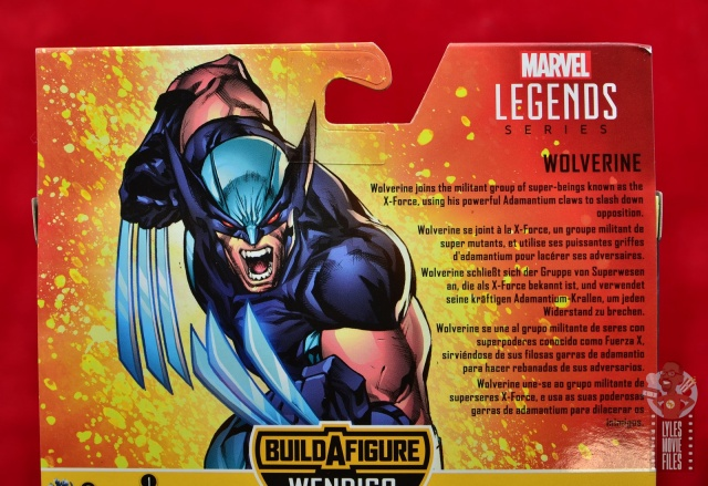 marvel legends x-force wolverine figure review - package bio