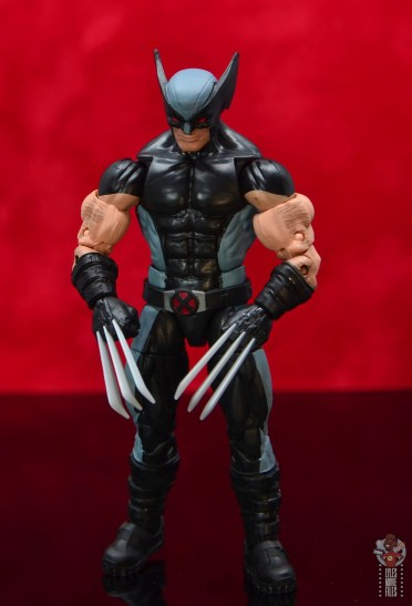 marvel legends x-force wolverine figure review -resting pose