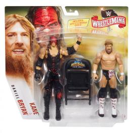 wwe battle pack wrestlemania 36 kane and daniel bryan -front package