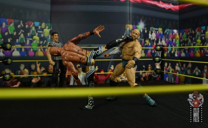 wwe elite 69 ricochet figure review - super kick to cesaro