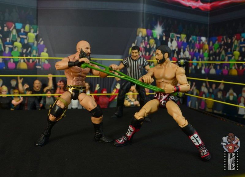 wwe elite 69 tommaso ciampa figure review - fighting johnny gargano over the crutch