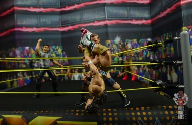 wwe elite american alpha figure review - chad gable with triangle hold