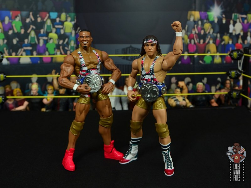 wwe elite american alpha figure review - with smackdown tag titles