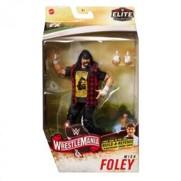 wwe elite wrestlemania 36 mick foley -front package