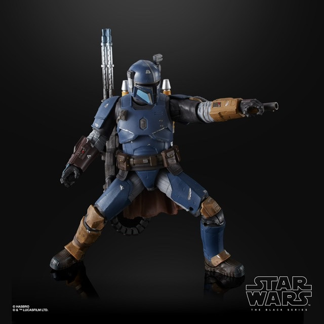 Star Wars the black series heavy infantry mandalorian With small blaster