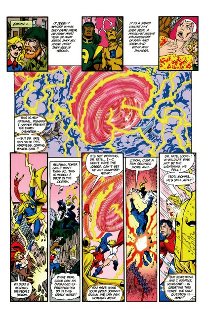 crisis on infinite earths #5 - wildcat gets taken out
