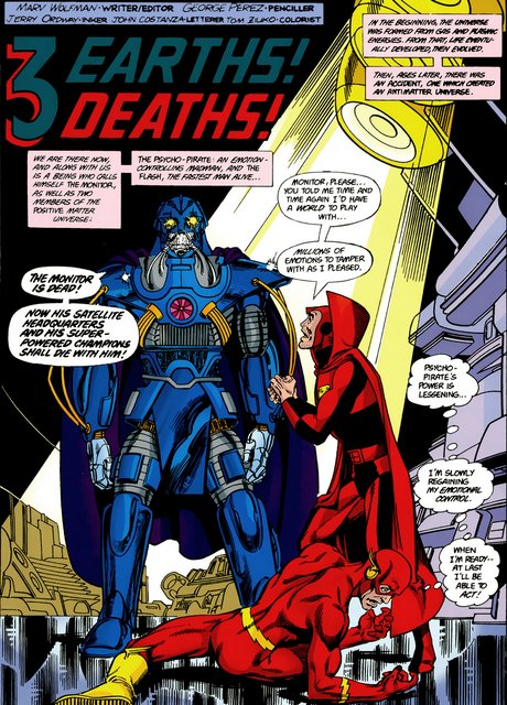 crisis on infinite earths #6 - anti-monitor and psycho pirate