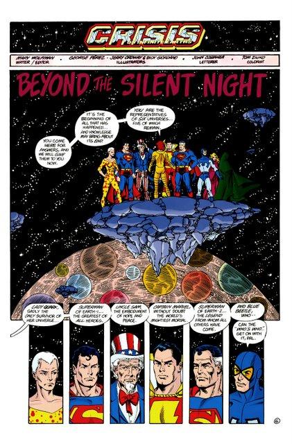 crisis on infinite earths #7 - heroes assemble