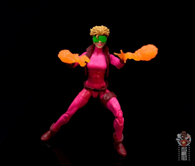 marvel legends boom-boom figure review - launching time bombs