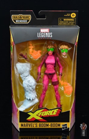 marvel legends boom-boom figure review - package front
