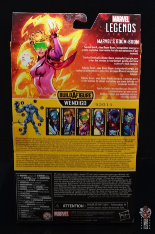marvel legends boom-boom figure review - rear