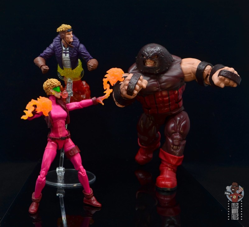 marvel legends boom-boom figure review - with cannonball vs juggernaut