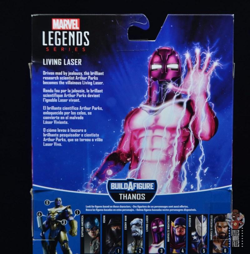 marvel legends living laser figure review - package bio