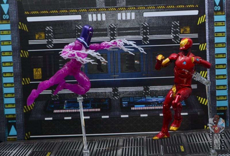 marvel legends living laser figure review - vs iron man