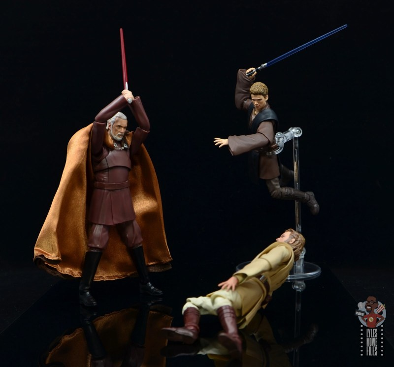 sh figuarts count dooku figure review -anakin makes the save