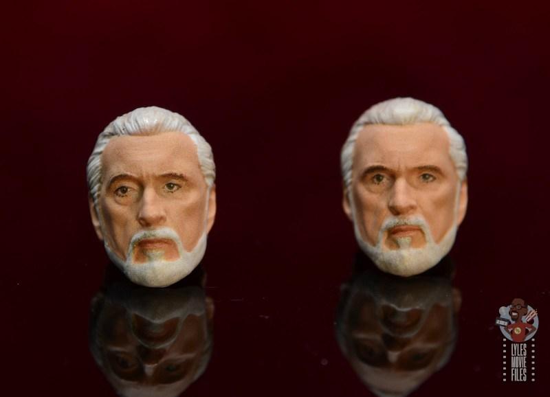 sh figuarts count dooku figure review -both head sculpts
