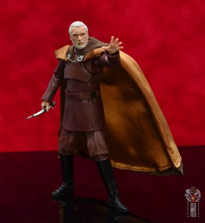 sh figuarts count dooku figure review -force gesturing hand