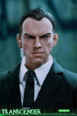 transcender the matrix agent smith figure -calm face