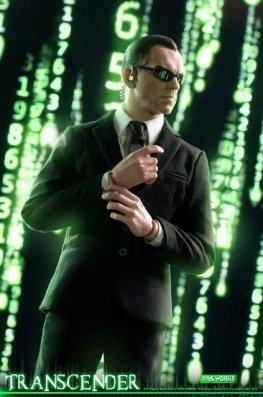 transcender the matrix agent smith figure - with matrix backdrop